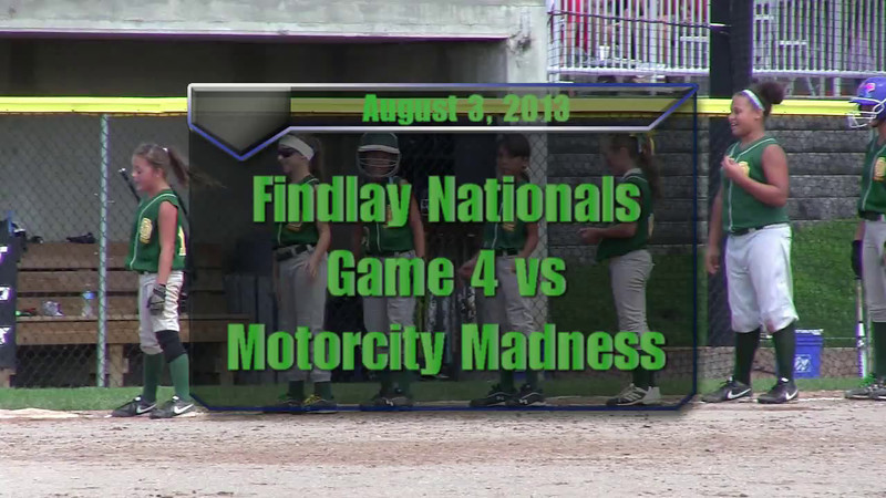 Findlay Nationals Aug 3, 2013.  Game 4 vs Motorcity Madness.  Games 2 and 3 were rained out on Aug 2.