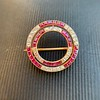 2.90ctw French Ruby and Diamond Brooch, by La Cloche Fres of Paris 18