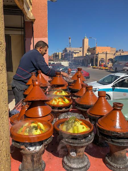 Roadside tagine in Zaida, Morocco