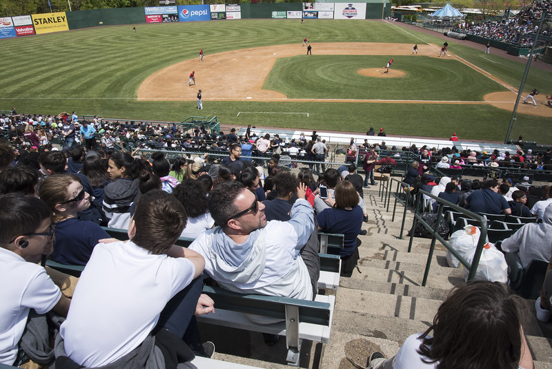 05/16/19  Wesley Bunnell | Staff  The Lancaster Barnstormers defeated the New Britain Bees 10-3 during an early 10:30 a.m. start featuring thousands of CSDNB school children in attendance.