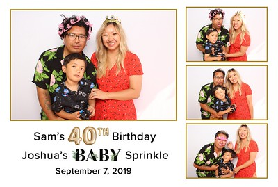 Sam's 40th Birthday • Joshua's BABY Sprinkle