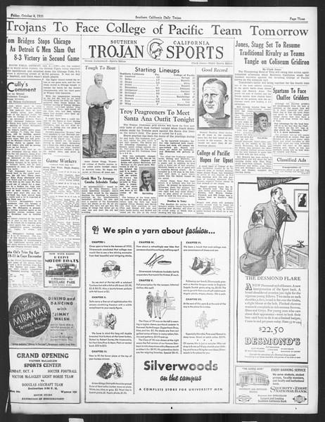 Daily Trojan, Vol. 27, No. 11, October 04, 1935