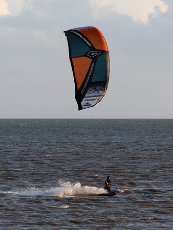 Kite Surfing  4th Oct 21 at Pegwell Bay, Ramsgate, Kent