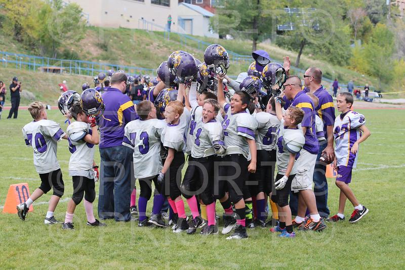 October 11, 2014 5th Grade YAFL Bayfield Wolverines vs Kirtland Broncos