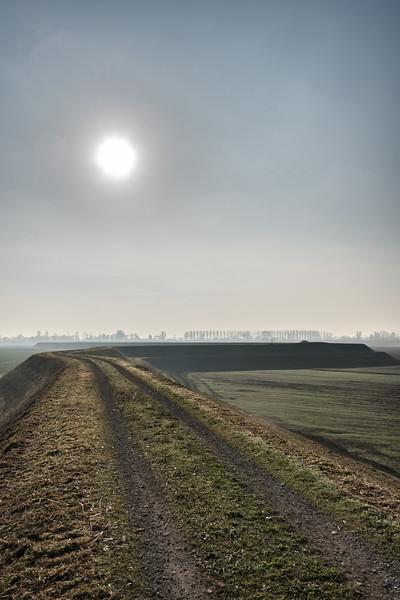 Levee - Secchia detention basin, Soliera, Modena, Italy - November 22, 2017