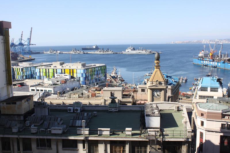 Valparaiso harbor and Naval base