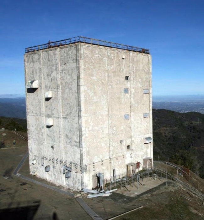 . 2012: The radar tower at Mt. Umunhum. (Midpeninsula Regional Open Space District)