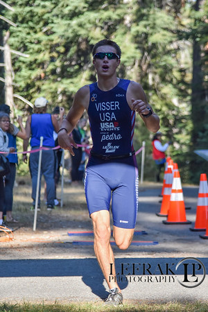 Lake Tahoe Tri Sprint Finish