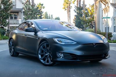 2020 Tesla Model S - Solid Black XPEL Stealth Wrap