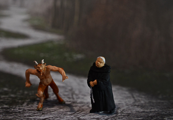 """0128 humour  The devil and a monk are walking down the road.  """"What is similar about the Jesuit and Dominican Orders? """" the devil asked.  The monk replied, """"Well, they were both founded by Spaniards -- St. Dominic for the Dominicans, and St. Ignatius of Loyola for the Jesuits. They were also both founded to combat heresy -- the Dominicans to fight the Albigensians, and the Jesuits to fight the Protestants.""""  The devil then enquired """"OK, what is different then about the Jesuit and Dominican Orders?""""   """"Met any Albigensians lately?""""  replied the monk."""