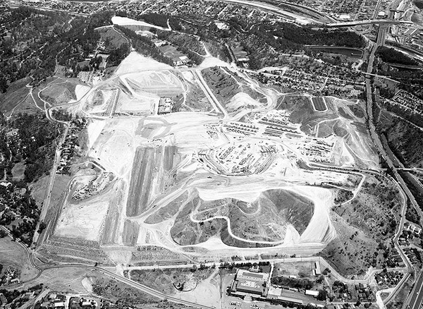 1961, Aerial Showing Dodger Stadium Construction