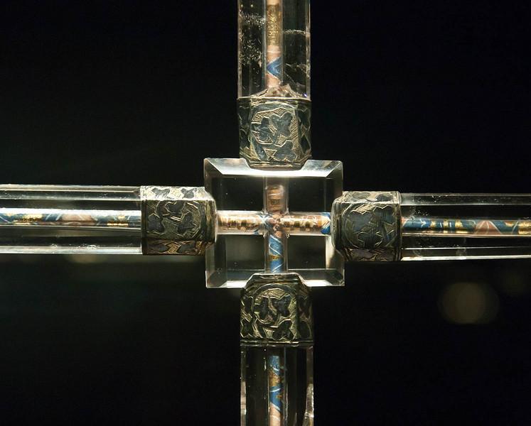 Münster, Domkammer, Kristallkreuz (Venedig o. Köln, 1.H. 14. Jh.), Krückenkreuz