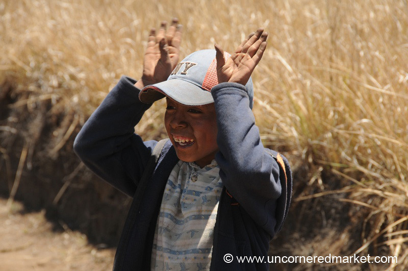 Boy Goofing Around - Lake Atitlan, Guatemala