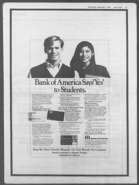 Daily Trojan, Vol. 105, No. 2, September 02, 1987