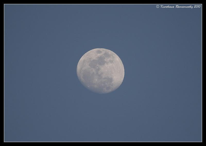 Moon at San Elijo Lagoon, San Diego County, California, March 2010