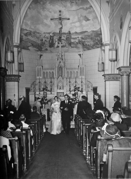 Maria Jacob and Walter 'Rip' Smock Wedding September 9, 1950  St. Joseph Catholic Church Houston, Texas