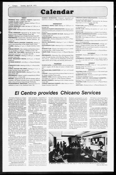 Daily Trojan, Vol. 67, No. 117, April 29, 1975