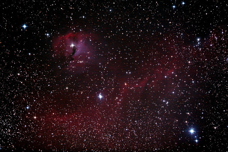 IC2177 - Gum 1 and 2 - Seagull Nebula - 10/1/2013 (Processed stack)