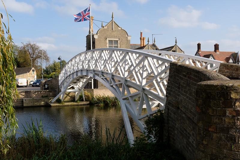 Chinese Bridge in Godmanchester, Cambridgeshire