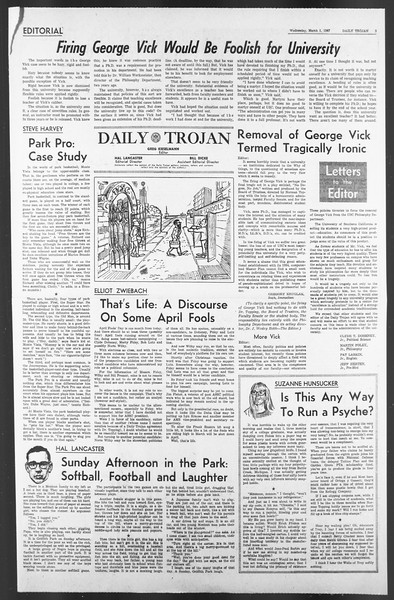 Daily Trojan, Vol. 58, No. 80, March 01, 1967