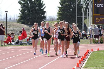 Women's 1500 Meters - 2013 CMU Lyle Bennett Open