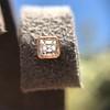 .52ctw Asscher Cut Diamond Bezel Stud Earrings, 18kt Rose Gold 19