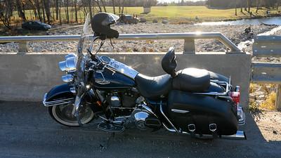 Motorcycling in October outside of Winnipeg