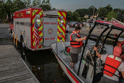 7-9-19 Boat Drill, Hudson River