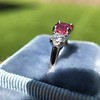 1.71ctw Ruby and Diamond Trilogy Ring 33