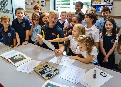 Kato Keller Visits Lower School