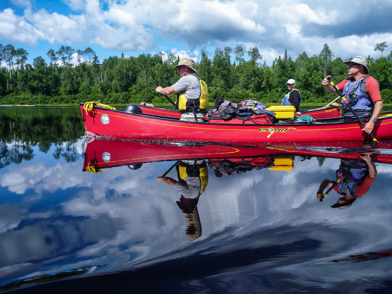 Photos from a WWCC whitewater trip on the Ashuapmushuan River in Northern Quebec. Photo by Don McMurtry