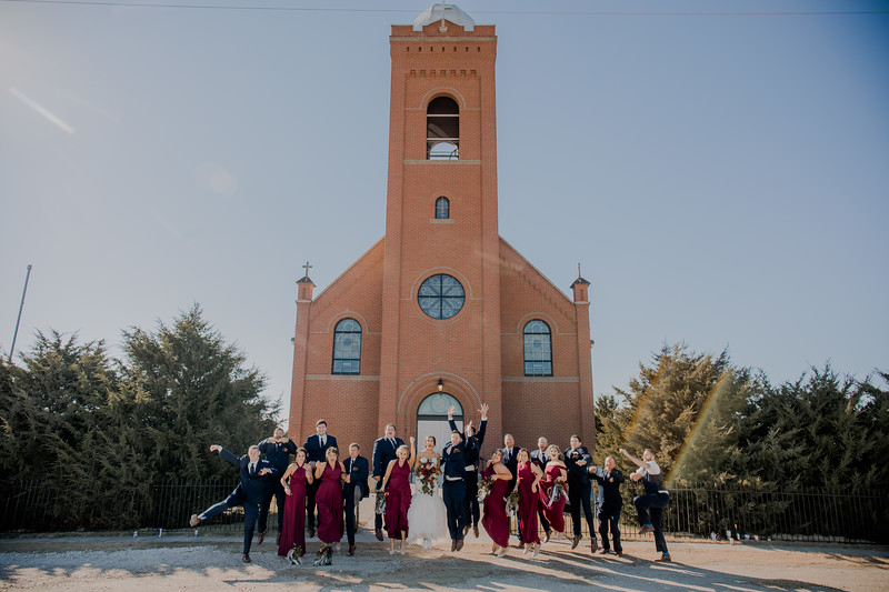 Wedding Party Outside Church
