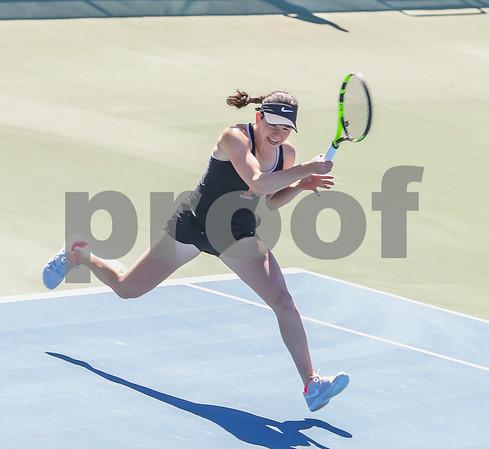 Singles Photos Court 2 - Highlights -- Stephanie Schrage (Princeton) def. Ashley Zhu (Penn), 6-4, 6-4