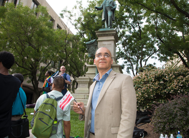 Franklin Garcia, Albert Pike Statue