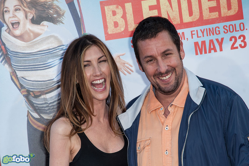 HOLLYWOOD, CA - MAY 21: Actor Adam Sandler and Jackie Sandler arrive at the Los Angeles premiere of 'Blended' at TCL Chinese Theatre on Wednesday May 21, 2014 in Hollywood, California. (Photo by Tom Sorensen/Moovieboy Pictures)