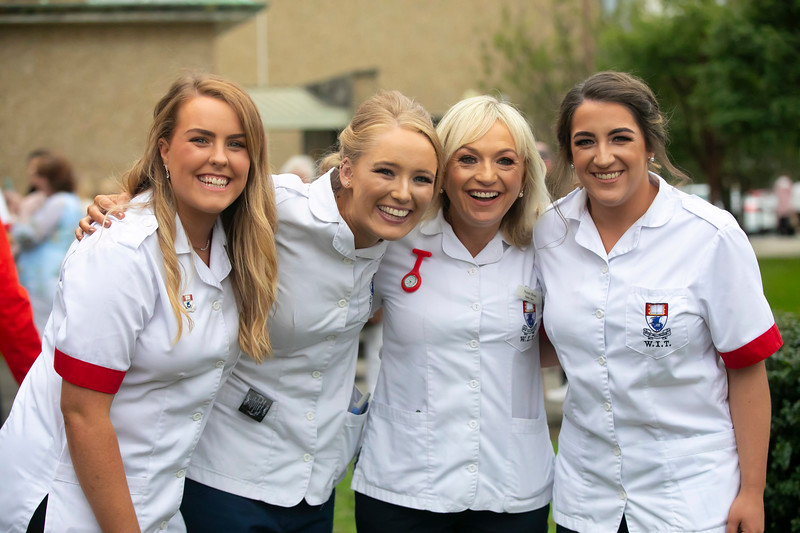 26/09/2019. Nurses Graduation at University Hospital Waterford are Ellie Barr Carlow, Joanna Burke-Hayes Kildare, Natalie Moore Carlow and Kelly Walsh Tipperary. Picture: Patrick Browne