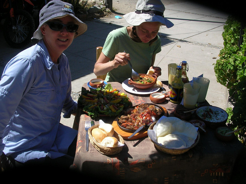 Lunch: Soup, salad, fajitas