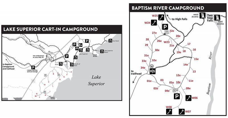 Tettegouche State Park (Campground Maps)