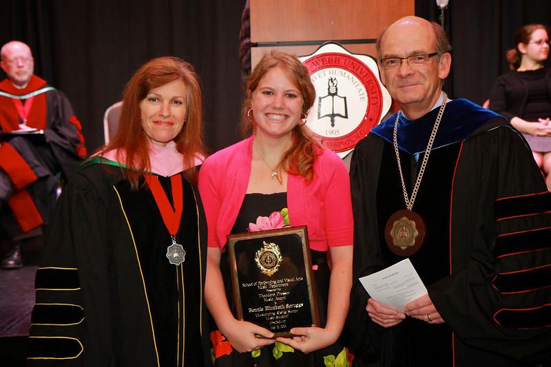 58th Academic Awards Day; April 30, 2013. Theodore Presser Music Award