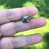 4.57ct Fancy Dark Greenish Yellow Brown Asscher Cut Diamond GIA 11
