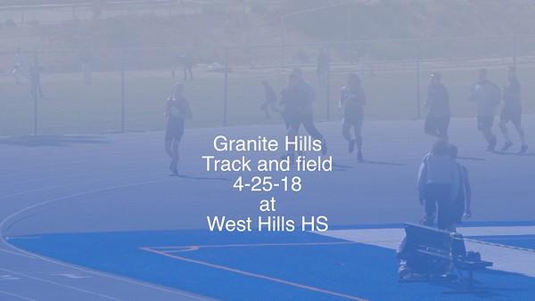 4-25-18 Granite Hills vs West Hills
