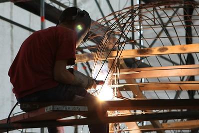 Bloemencorso 2008 - Wagenbouw (4 augustus)
