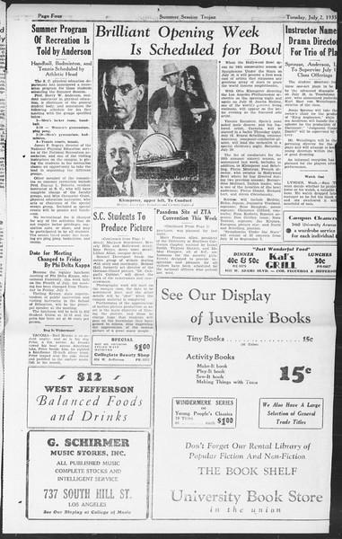 Summer Session Trojan, Vol. 14, No. 5, July 02, 1935