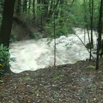 flooding Lehigh Gorge at Rockport videos 9-8-11
