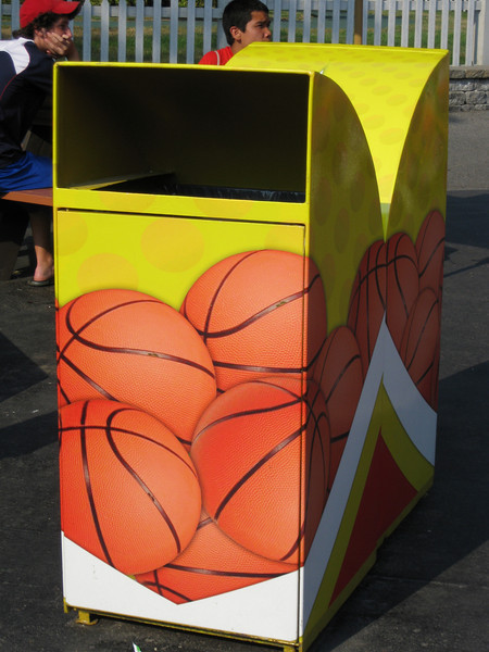 New Three Point Challenge themed trash cans!