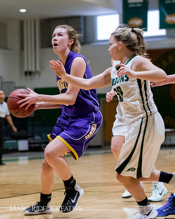 Broughton girl's JV basketball vs. Cardinal Gibbons. February 1, 2018.
