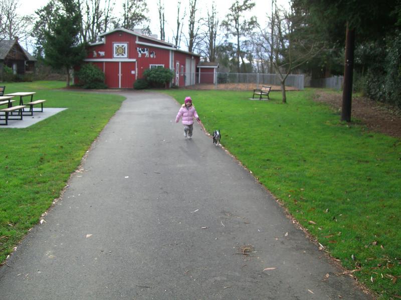 Jennings park...running of the dog.