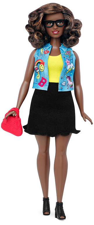 . This photo provided by Mattel shows a new, curvy Barbie Fashionista doll introduced in January 2016. Mattel, the maker of the famous plastic doll, said it will start selling Barbie�s in three new body types: tall, curvy and petite. She�ll also come in seven skin tones, 22 eye colors and 24 hairstyles. (Mattel via AP)