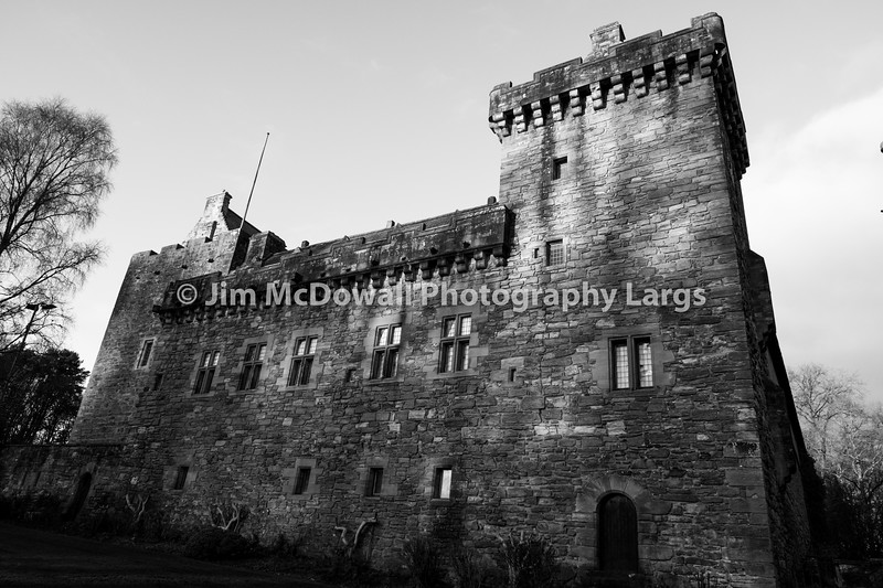 Majestic Buildings of Dean castle Tower in East Ayrshire Kilmarnock Scotland.