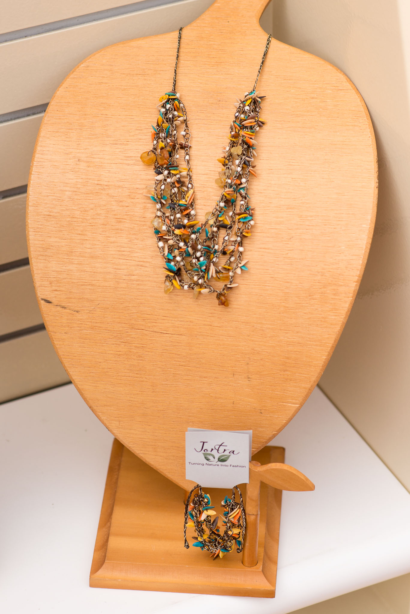 Jortra Necklace Turquoise Yellow Orange - Epcot Flower & Garden Festival 2016